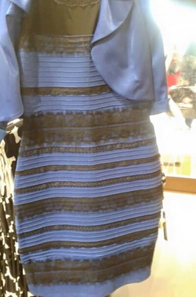 Some see this dress as white and gold. Others see it as blue and black. All are looking at the same dress. What's up?