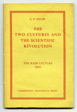 "C.P. Snow's 1959 lecture on ""The Two Cultures"" spoke of a chasm between science and the humanities that persists today."