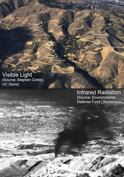 Aliso Canyon in Visible and Infrared Light