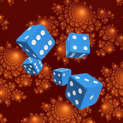 Rolling dice in multiverses