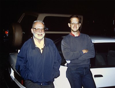 Jim Westphal and Andrew Westphal at Hubble's launch